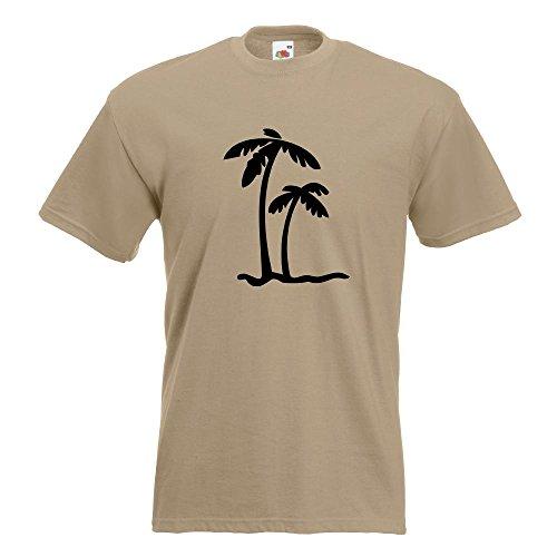 KIWISTAR - Palmen T-Shirt in 15 verschiedenen Farben - Herren Funshirt bedruckt Design Sprüche Spruch Motive Oberteil Baumwolle Print Größe S M L XL XXL Khaki