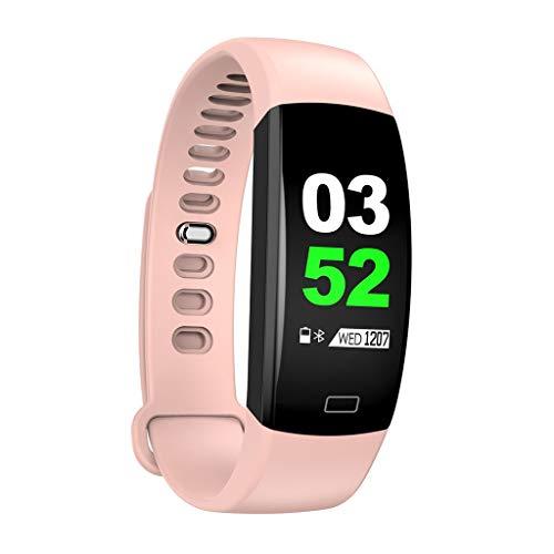 Fitness Armband, Elospy Smartwatch Fitness Tracker mit Pulsmesser Wasserdicht IP68 Pulsuhr Schrittzähler Uhr Sportuhr Aktivitätstracker für Android iOS Damen Herren Anruf SMS SNS Beachten