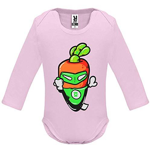 Body bébé - Manche Longue - Super Carrot - Bébé Fille - Rose - 9MOIS