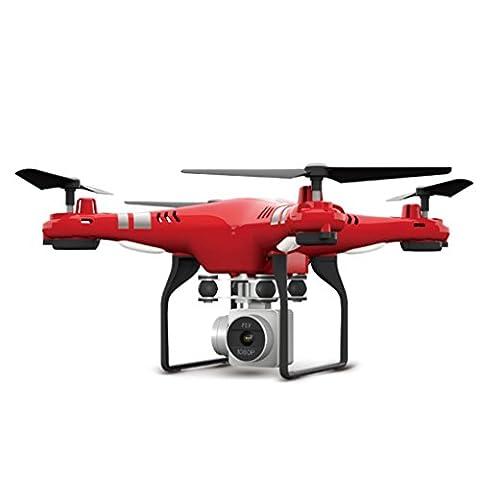 MRULIC 2.4g höhe halten, hd - kamera quadcopter rc - drohne 2mp wifi fpv helikopter schweben X52 HD - luftbild Ferngesteuerte flugzeuge (A, Rot)
