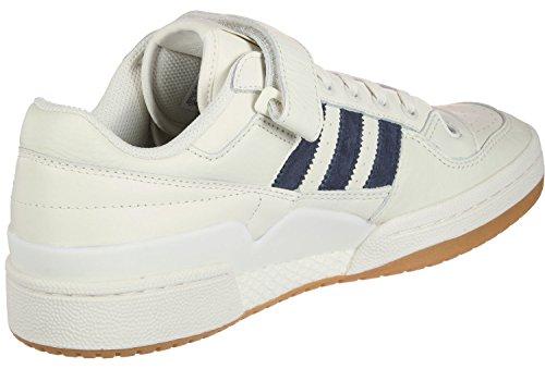 adidas Forum Lo, Scarpe da Ginnastica Basse Uomo Bianco (Chalk White/trace Blue/gum 0)