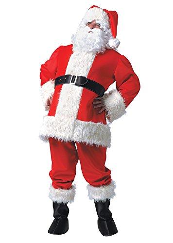 Karneval Stamco Kostüm - Unbekannt Weihnachtsmannkostüm Kostüm Weihnachtsmann Weihnachten Santa Claus Nikolauskostüm, Luxe