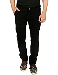 Nimegh Cod Black Colored Corduroy Casual Solid Trouser For Men's