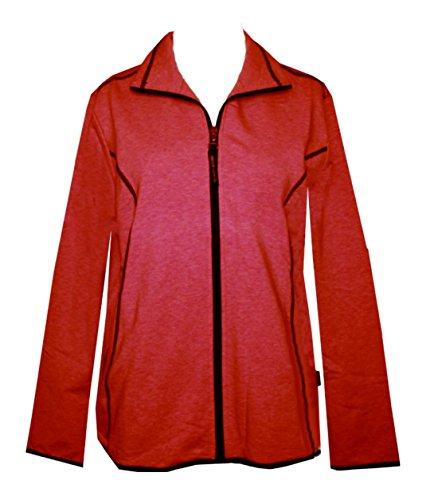 Schneider Sportswear Chantal Damen Sweatjacke Fleece Innen Hoodie 93% Baumwolle (40, rot)