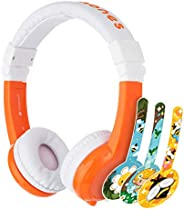 ONANOFF BuddyPhones Explore Foldable - Kids Volume Limiting Headphones - Built-in Audio Sharing Cable and in-L