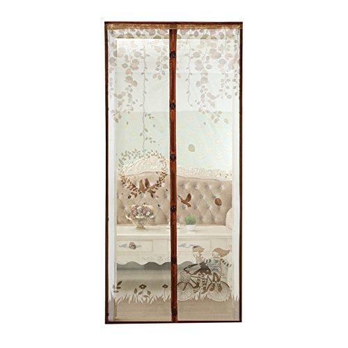 Wongfon zanzariera magnetica per porte - dimensioni 90 x 210cm/100 x 210cm, rete di ottima qualità, tenda zanzariera per porte d'ingresso,porte, cortili