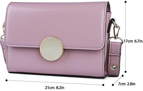 Borsa Piccola Donna, COOFIT Borse Tracolla Messenger Borse a Spalla Borse Ecopelle rosa