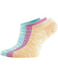 Montebello Women's Low Cut Socks (Multi-Coloured, Set of 3)