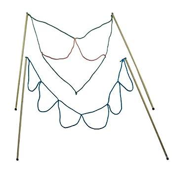 Kidzmedia – 2 Paar Stäbe Riesenseifenblasen + Pulver für 5L: Loop / Multi-Loop groß, Holz (90cm lang) Seifenblasen Set