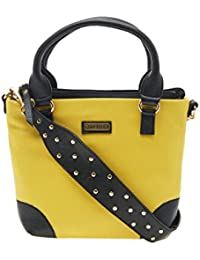 ESBEDA Yellow Color Solid Pu Synthetic Material Handbag For Women