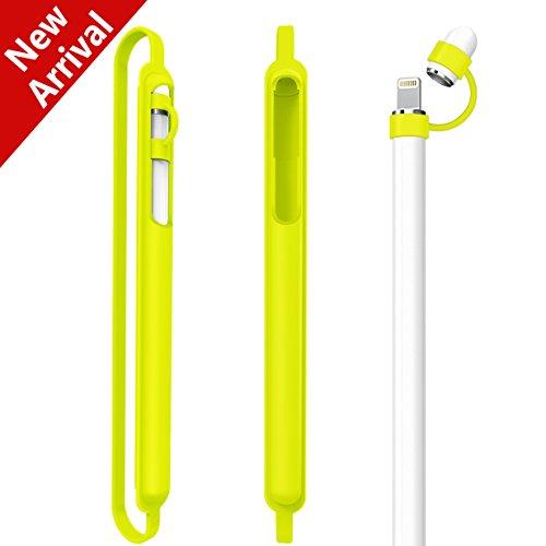 Kutop Apple Pencil Hülle Halter, weicher Silikon Pen schützender Cover Nib Jacken Hülsen Holder Shockproof Tropfen Beweis Zusätze für iPad Pro 9.7 iPad Pro 10.5 Bleistift