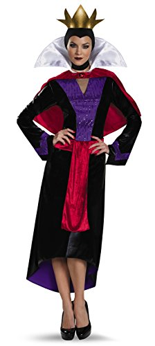 Snow Kostüm White Womens - Disguise Womens Deluxe Evil Queen Fancy Dress Costume Medium