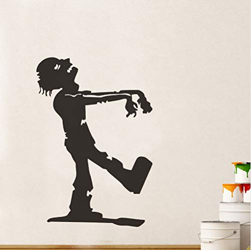 wassaw Zombie Halloween Wall Stickers for Kids Room, Hallowmas Walking Zombie Self Adhesive Wall Decal H Decoration Accessories 58Cm X 84Cm (Halloween Kid Zombie)