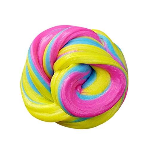 Gratis schlamm Spielzeug–honestyi–Kinder flauschig Floam Slime Putty durtend 60ml Duft Stress Relief Kids Clay Spielzeug - Lustige Witze Halloween-cartoons
