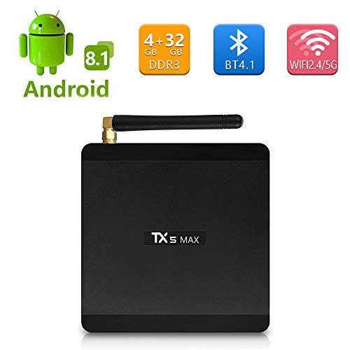 Sofobod TX5 MAX TV Box Android 8.1 4GB RAM+32GB ROM, S905X2 Quad Core Arm Cortex A53, 2.4G/5G WiFi, BT4.1, HDMI 2.1, USB3.0(EINWEG)