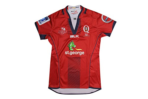 Queensland Reds 2016 Super Rugby Damen Home Replica Shirt, damen, rot, 10 (Rugby Home Damen Shirt)