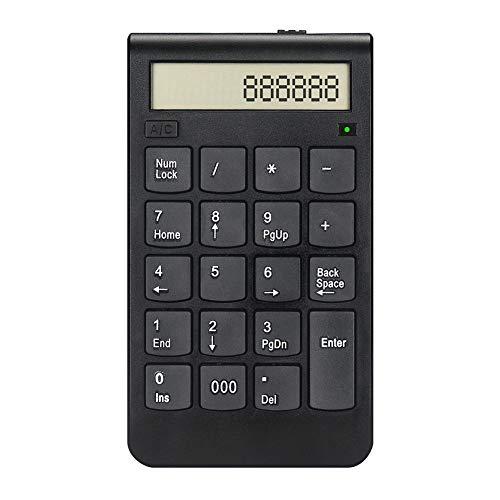 2.4G Kabelloses Keypad Ziffernblock Mit 19 Tasten, Wiederaufladbare Digital-Tastatur Mit USB Mini PC Laptop Empfänger, Schwarz - Die Digitale Signalübertragung