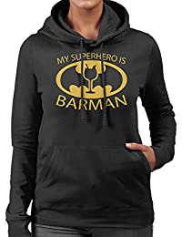 Batman My Hero Is Barman Women's Hooded Sweatshirt