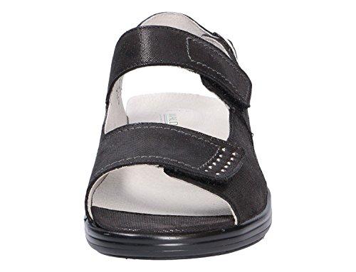 Waldläufer Hona Damen Sandale mit Fussbett Schwarz