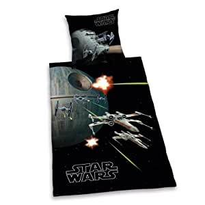 herding housse de couette star wars toile noire amazon. Black Bedroom Furniture Sets. Home Design Ideas