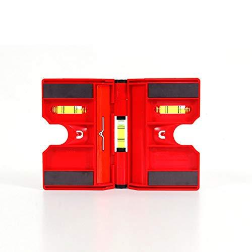 Magnetische faltende Pfosten-Ebene, faltbarer justierbarer Pfosten-Wasserwaage-Zaun Tragbares magnetisches horizontales vertikales faltendes Maß-Werkzeug