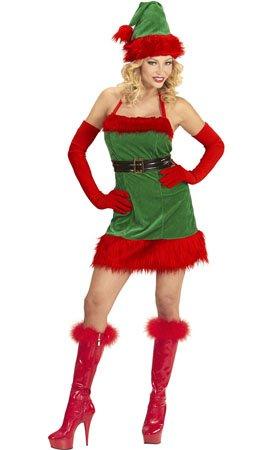 WIDMANN wdm98733?Disfraz elfo ayudante de Papá Noel Navidad, rojo, Large