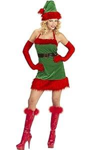 WIDMANN wdm98739?Disfraz elfo ayudante de Papá Noel Navidad, rojo, Small