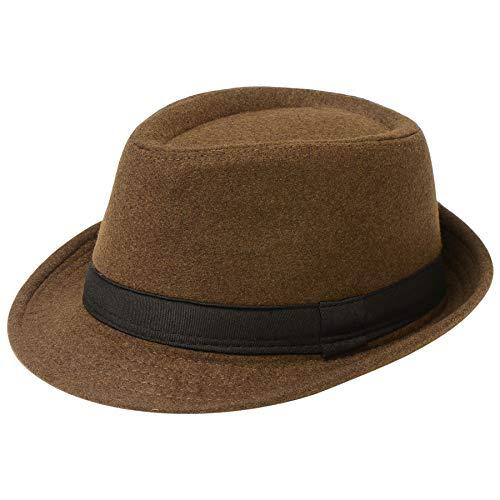 Coucoland Panama Hut Mafia Gangster Herren Fedora Trilby Bogart Hut Herren 1920s Gatsby Kostüm Accessoires (Filz (Filz Fedora Hüte)