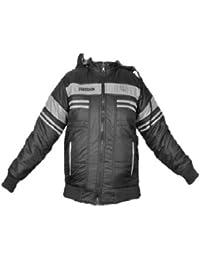 EK UDAAN Men's Polyester Reversible Hooded Jacket (Dark Grey_38)