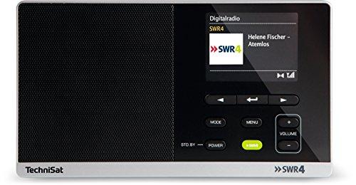 TechniSat Digitradio 215 SWR4 Edition, portables DAB Radio (DAB+, UKW, Farbdisplay, SWR4-Direktwahltaste, Wecker, Favoritenspeicher, Kopfhöreranschluss, Netz & Batteriebetrieb) schwarz (Portable Wecker Radio)