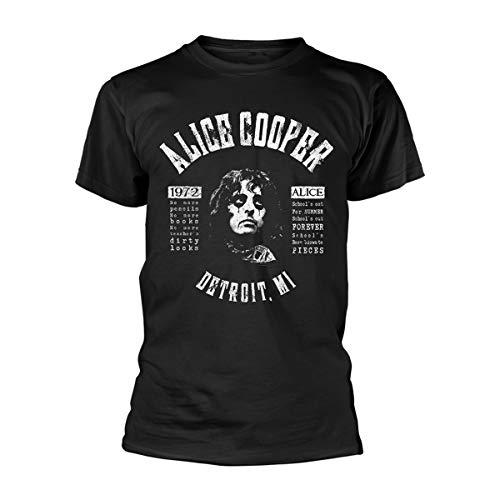 Alice Cooper Herren School's Out Lyrics T-Shirt Schwarz XX-Large