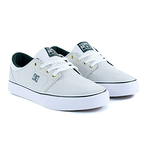 DC Shoes Trase S SE Tristan - Chaussures basses pour homme ADYS300199 Blanc - White/Green