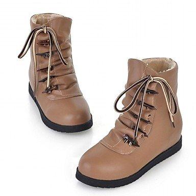 Ch & Tou Femmes-talons-mariage Bureau Et Travail Soirée Formelle Soirée-bottes De Cowboy Bottes D'équitation Bottes-plat-marron