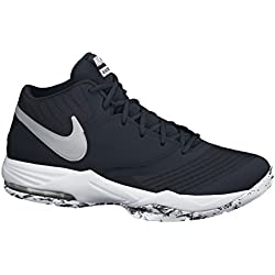 competitive price 51971 4d3a4 Nike Air Max Emergent, Zapatillas de Baloncesto para Hombre, Negro   Plata    Blanco
