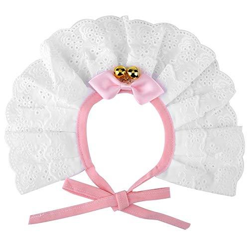 Princess Cute Kostüm - HEEPDD Haustier Katze Spitze Kragen Krawatte einstellbar Hund niedlich Bowtie Decor Halskette Welpen Kätzchen Lätzchen Dribbeln Speichel Krawatte Pflege Zubehör für Hochzeit Party photograpieren(XL)
