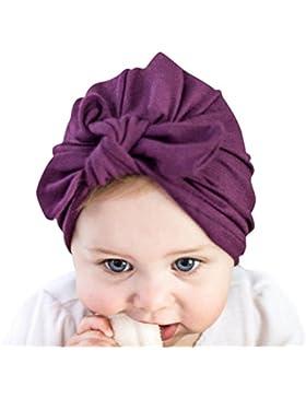 De feuilles Neugeborenes Baby Mütze Kleinkind Warm Weich Unisex Baby Jungen Mädchen Kopfdeckung Süße Schleife...