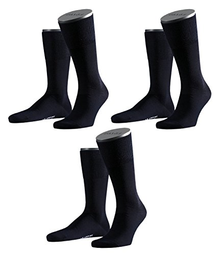 FALKE Herren Airport Socken Strümpfe 14435 3 Paar, Farbe:Blau;Sockengröße:43-44;Artikel:14435-6370 dark navy