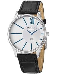 Stuhrling Original 553.33152 - Reloj analógico de cuarzo para hombre, correa de cuero color negro