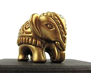 Elefant, Elefanten-Figur, Mini-Elefant, MADE WITH SWAROVSKI® ELEMENTS, Deutsche Handarbeit, Weihnachtsgeschenk, Geschenkidee zur Geburt, Taufe, Geburtstag, Glücksbringer (bronze glanz)