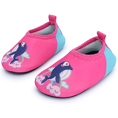 JIASUQI Babys M?Dchen und Jungen Komfort Walking Wasser Schuhe f¨¹r Outdoor Schwimmen River, Pink Dolphin 6-12 Monate