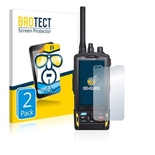 BROTECT Schutzfolie kompatibel mit RugGear RG760 [2er Pack] klare Bildschirmschutz-Folie