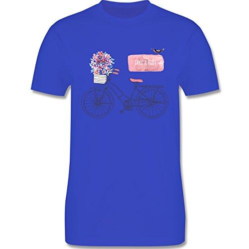 Vintage - Fahrrad Take a ride Watercolour - Herren Premium T-Shirt Royalblau