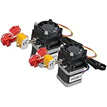 2Pcs 12V 0.4mm 1.75mm Nozzle Extruder Kit with Stepper Motor+Cooling Fan For