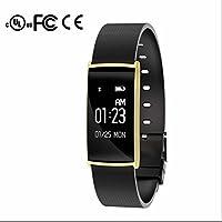 Pulsera de actividad inteligente ,Pulsera Actividad Bluetooth con Contador de Pasos,Monitor de Dormir,Notificación de mensajes,Contador de Calorías,Sensor de ritmo cardíaco para Android/iOS Smartphone