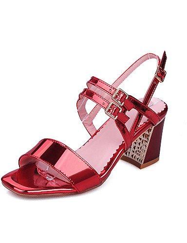 LFNLYX Chaussures Femme-Habillé / Soirée & Evénement-Bleu / Rose / Rouge / Argent-Gros Talon-Talons / A Bride Arrière / Bout Ouvert-Sandales- Blue