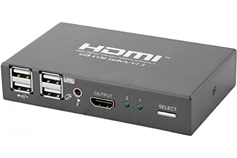 Kvm switch HDMI/USB 1080P 2 voies avec cables