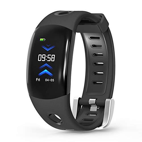 FANZIFAN Intelligente Uhr 3D Dynamic UI Fitness Tracker Armband mit Herzfrequenzmesser Stepper Smartwatch IP68, schwarz