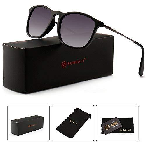 SUNGAIT Damen Mode Sonnenbrillen Retro-Art-Quadrat-gläser uv400 groß