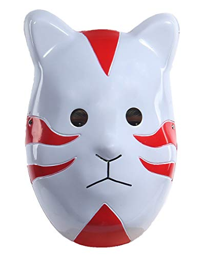 Kakashi Masque Anime Anbu Cosplay Costume for Halloween Carnival Party Accessories Red