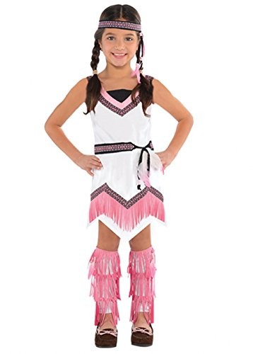 Indische Geist Kostüm - Mädchen Rosa indianischen Geist indischer Kostüm Large 8-10 years